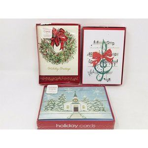 Lot of Wreath Church Music Notes Christmas Cards